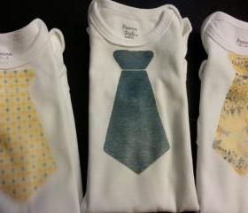 .Iron on Transfer onesie with tie/set of 3/ perfect for easter